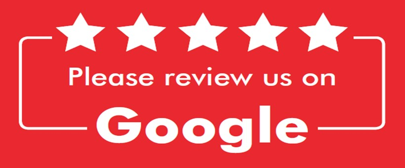 Write a Google Review & receive 10% off